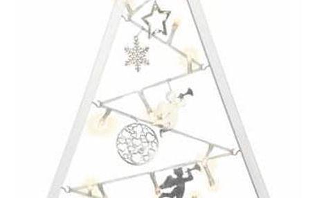 Nexos 57414 Světelná dekorace bílá - Vánoce - 15 LED teple bílá