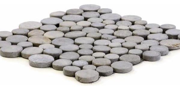 Garth Mozaika z andezitu - šedá obklady - 1x síťka3