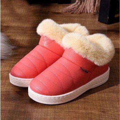 Zimní kotníkové boty s kožíškem