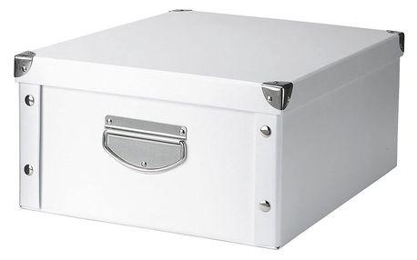 Box pro skladování, 40x33x17 cm, barva bílá, ZELLER