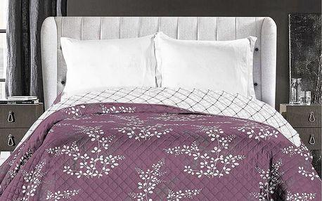 DecoKing Přehoz na postel Calluna fialová, 220 x 240 cm
