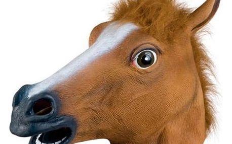 Latexová maska - kůň