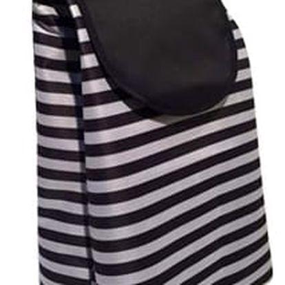 Brilanz Nákupní taška na kolečkách Černý pruh, 87 cm