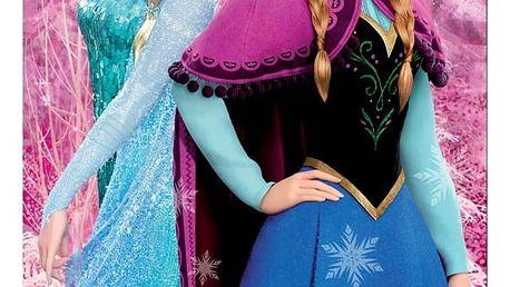 Jerry Fabrics Osuška Ledové království Frozen pink 02, 70 x 140 cm