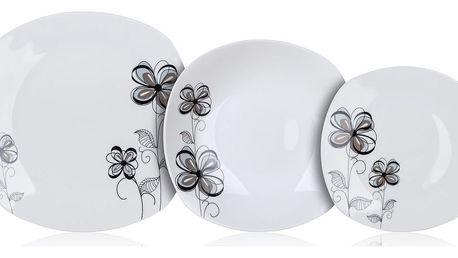 Banquet Sada talířů square FLOREA, 18 ks