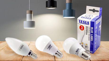 Sady LED žárovek Tesla po třech či pěti kusech