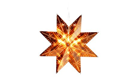 STAR TRADING Plechová závěsná hvězda Copper, měděná barva, kov