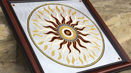 Ručně malovaná mandala s energií pro harmoničtější život