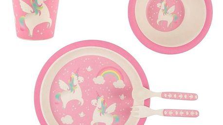 sass & belle Dětský set Rainbow Unicorn, růžová barva, bílá barva, plast
