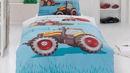 Matějovský Bavlněné povlečení Traktor, 140 x 200 cm, 70 x 90 cm