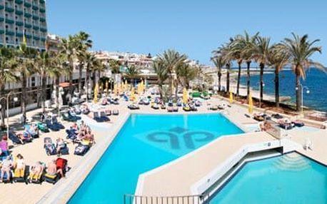 Malta - Bugibba a Qawra na 8 dní, all inclusive, polopenze nebo snídaně s dopravou letecky z Prahy 50 m od pláže