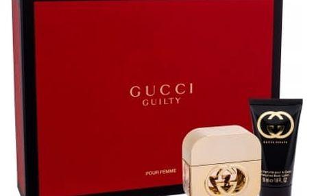 Gucci Gucci Guilty dárková kazeta pro ženy toaletní voda 30 ml + tělové mléko 50 ml