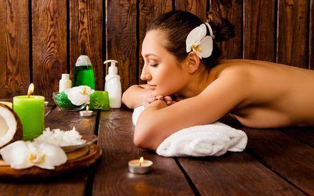 60minutové masážní rituály: kokosový či hřejivý