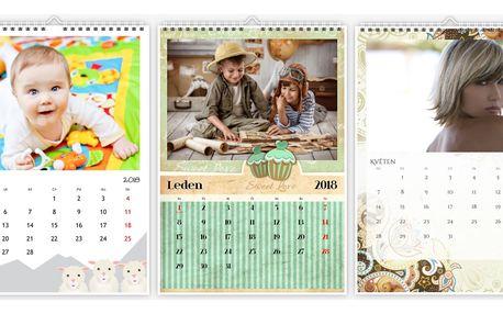 Nástěnný fotokalendář A4, A3 nebo XL