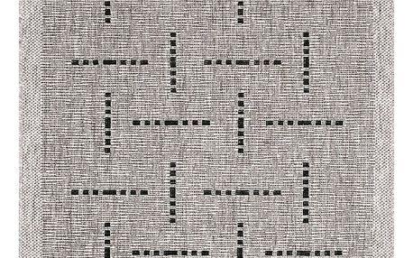 Spoltex Kusový koberec Floorlux silver/black 20008, 160 x 230 cm