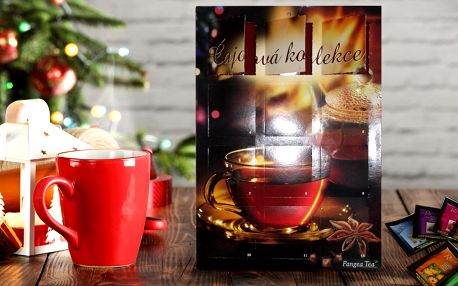 2 čajové adventní kalendáře s různými čaji
