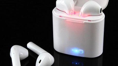 Praktické bezdrátové sluchátka AirPods i7. Darujte originální dárek po stromeček svým blízkým.