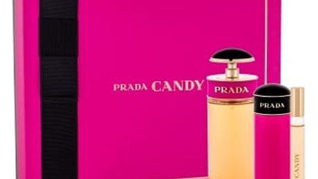 Prada Candy dárková kazeta pro ženy parfémovaná voda 80 ml + parfémovaná voda 10 ml + tělové mléko 75 ml