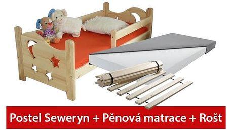 Postel SEWERYN 80 x 180 cm +pěnová matrace + rošt