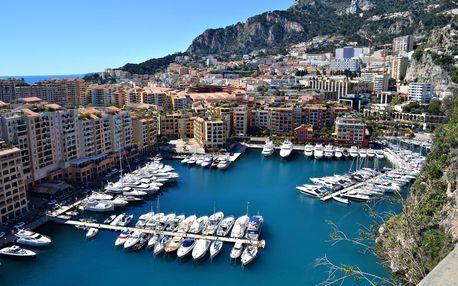Monaco, Monte Carlo a Nice | 1 noc se snídaní | 4denní poznávací zájezd do Monaka a Francie