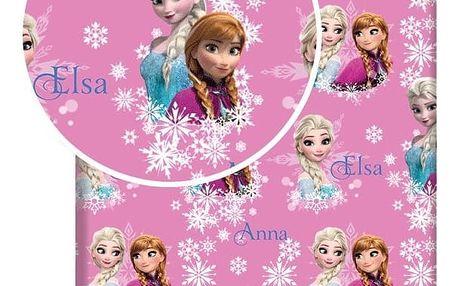 Jerry Fabrics Dětské bavlněné prostěradlo Ledové království Frozen duo sisters, 90 x 200 cm