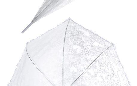 Deštník svatební Wedding day bílý
