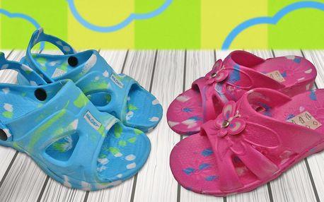 Dětské nazouváky a sandály na doma i do školy
