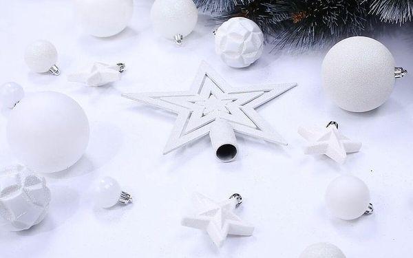 DecoKing Sada vánočních ozdob Shiny bílá, 100 ks3