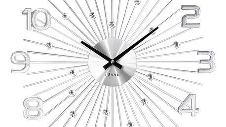 Nástěnné hodiny LAVVU CRYSTAL Sun LCT1150