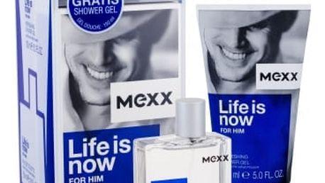 Mexx Life Is Now For Him dárková kazeta pro muže toaletní voda 50 ml + sprchový gel 150 ml