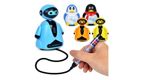 Kouzelný indukční tučňák/robot s magickým fixem