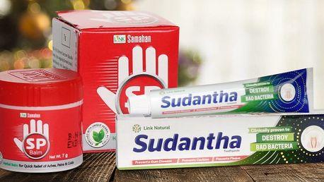 Balzám podle ayurvédské receptury a zubní pasta