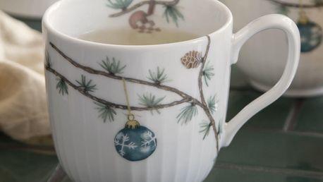 KÄHLER Hrnek Hammershøi Christmas, bílá barva, multi barva, keramika