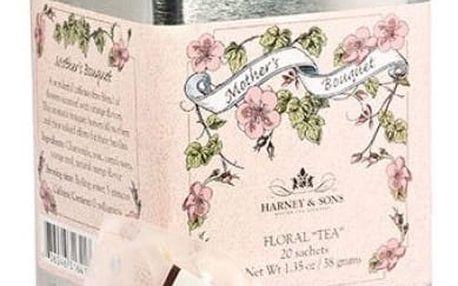HARNEY & SONS Bylinný čaj Mothers Bouquet, růžová barva, bílá barva, kov