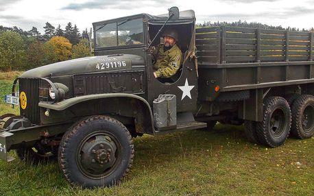 Jízda ve vojenském náklaďáku GMC CCKW: 11 či 23 km