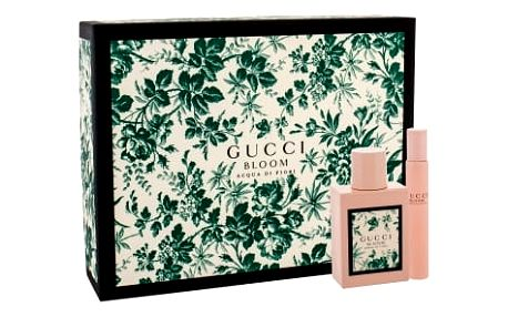 Gucci Bloom Acqua di Fiori dárková kazeta pro ženy toaletní voda 50 ml + toaletní voda 7,4 ml