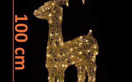 Nexos 5951 Vánoční LED dekorace - sob - 100cm, teple bílá