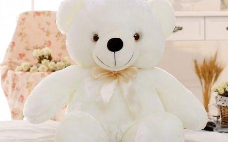 Plyšový LED medvídek svítící ve tmě - 20 cm - dodání do 2 dnů