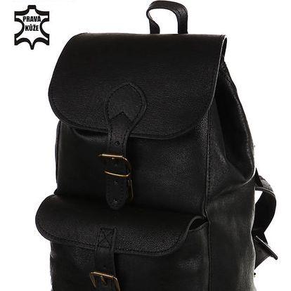 Kožený malý batoh - Česká výroba černá