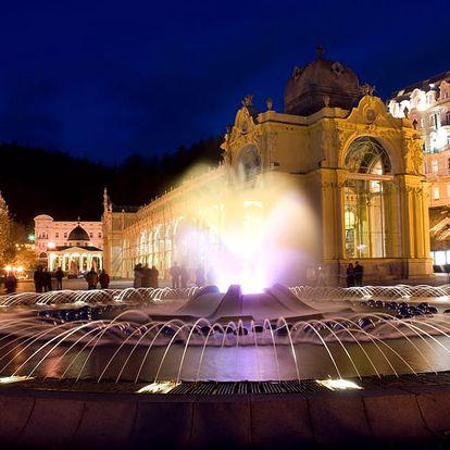 Slavnostní Mariánské Lázně v hotelu nedaleko Zpívající fontány s 28 procedurami, speciál pro ženy a mladé, i přes Silvestr