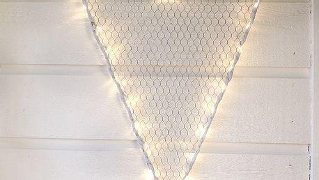 STAR TRADING Velké závěsné srdce Hjärta, bílá barva, kov
