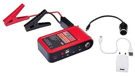 Startovací zdroj s powerbankou 12 000 mAh pro chytré telefony, tablety.