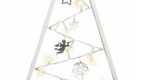 Nexos 57415 Světelná dekorace bílá - Vánoce - 20 LED teple bílá