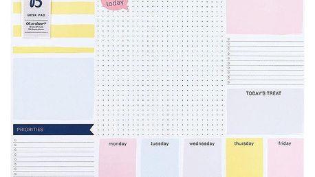 Busy B Trhací týdenní plánovač na stůl Fashion A3, multi barva, papír