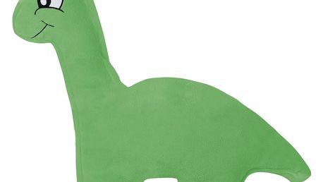 Bellatex Tvarovaný polštářek DINOSAURUS - zelený, 45 x 30 cm