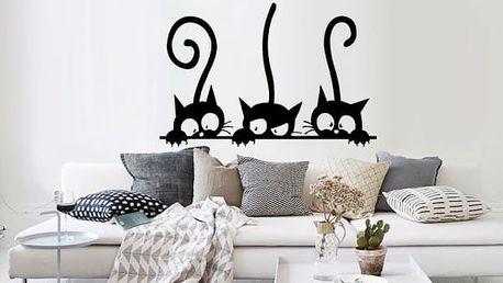 Samolepka na zeď Tři kočky