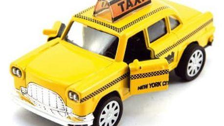 Kovové auto Taxi se světlem a zvukem