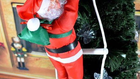 Vánoční dekorace - lezoucí Santa Claus