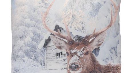 Dekorační polštářek Snow Deer, 45 x 45 cm