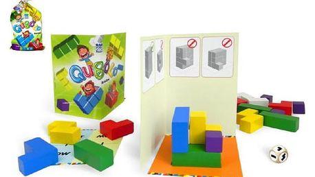 Společenská hra s dřevěnými kostkami Qubolo